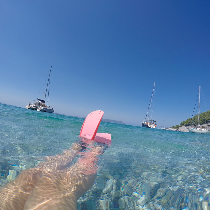 Swimming and Sailing in Greece