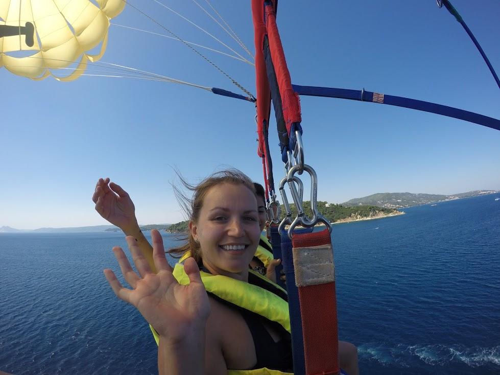 Parasailing in Greek Islands
