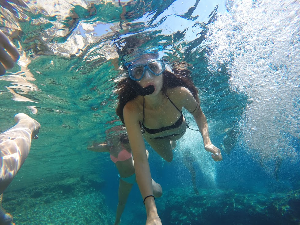 Snorkeling and in Greece