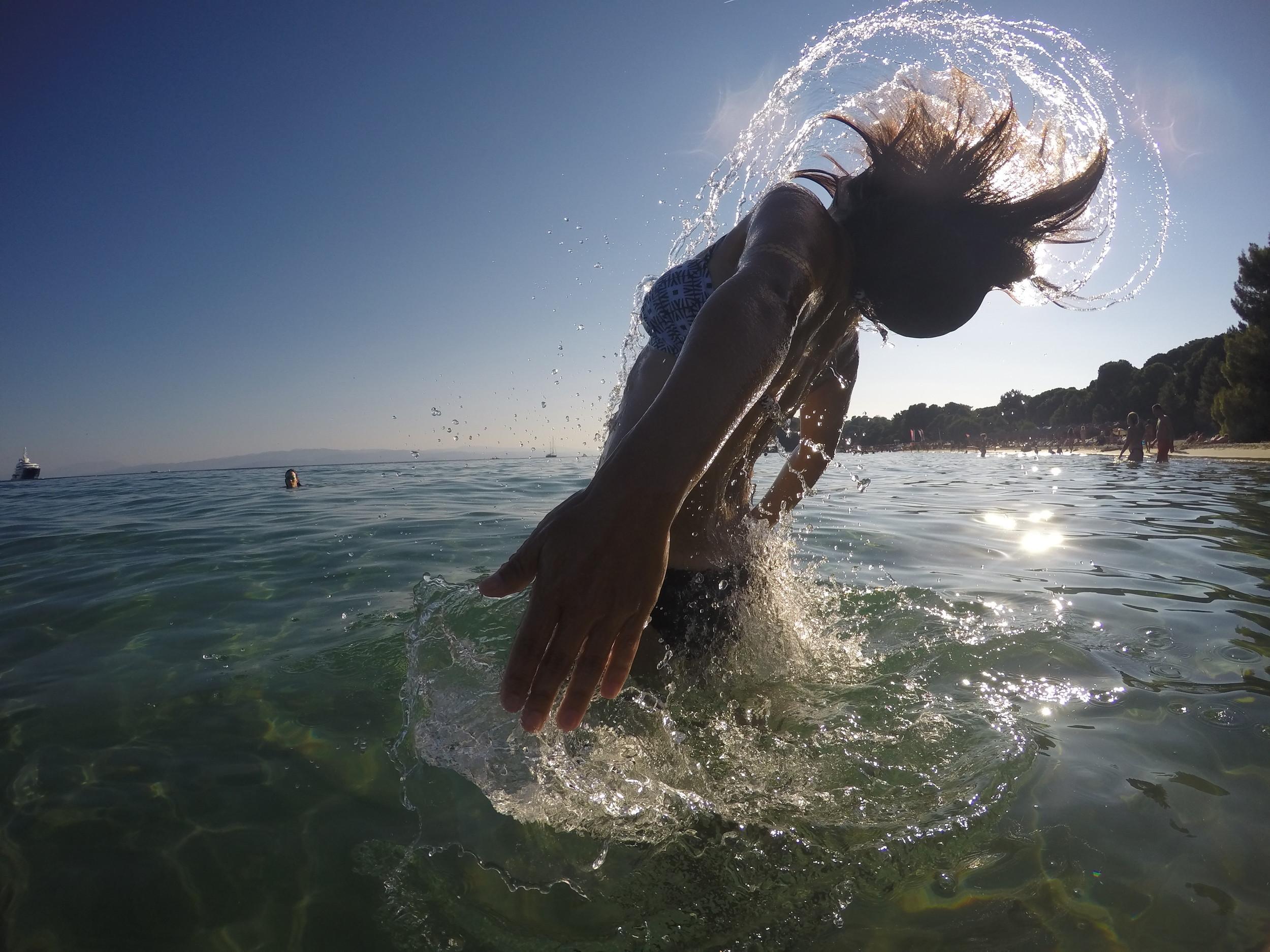 Swimming on Greek Beaches