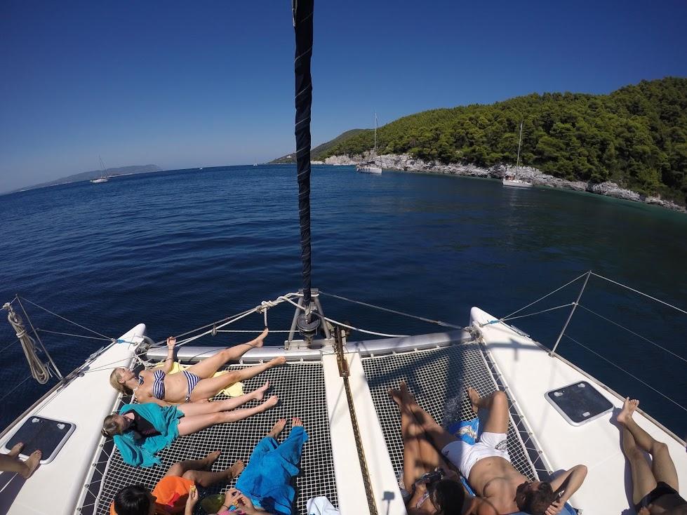 Catamarans on Greek Islands