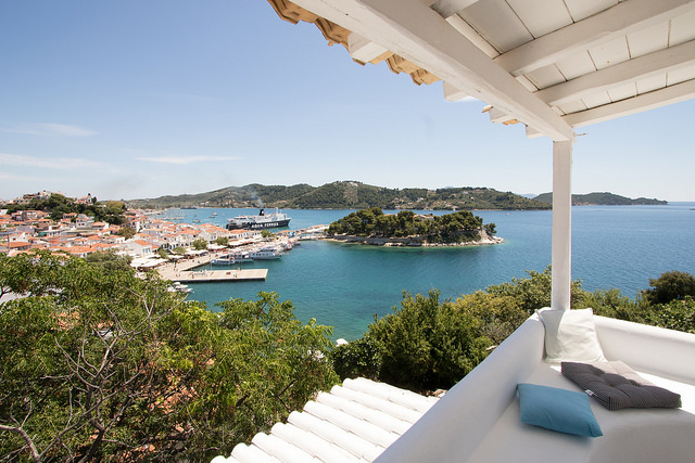A villa on a Greek island that is included on one of our HellaTravels Greece Tours.