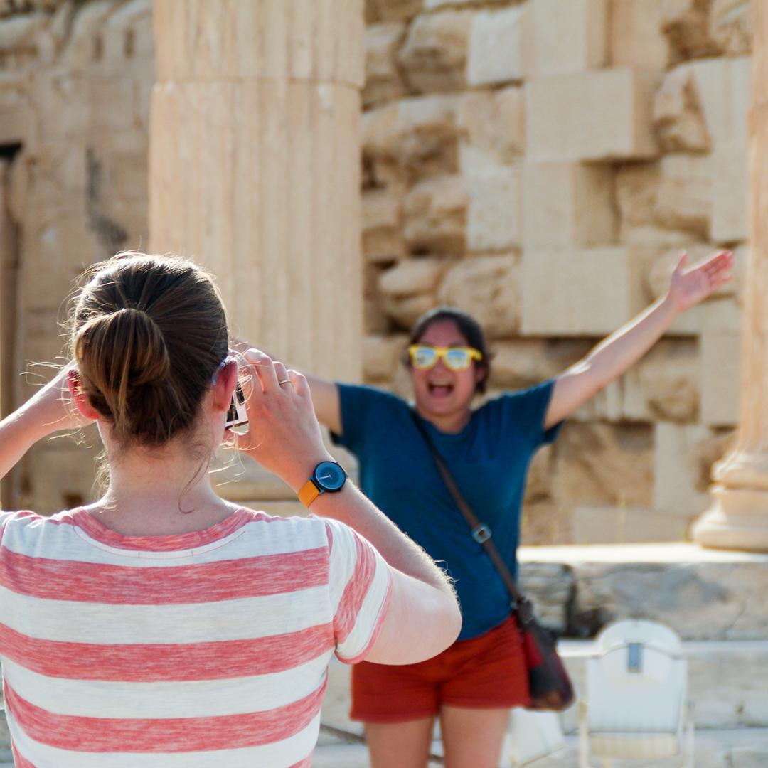 Having Fun at the Acropolis