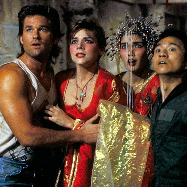 This Friday night at the @franklintheatre! Will the brave Jack Burton (Kurt Russel) save his crush with green eyes Gracie Law (Kim Catrall) before the evil Lopan marries her and takes over the world?  Looks like you gotta buy tickets and find out! Big Trouble In Little China! Gonna be a blast!