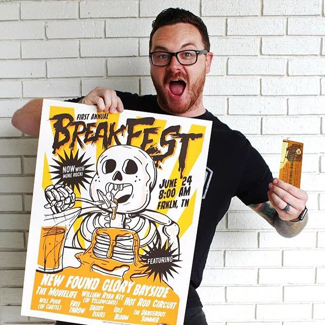 🥓BREAKFEST PHOTO CHALLENGE🍳sponsored by Twine Graphics & Screen Printing PRIZE: 1st place receives last years limited edition screen print poster and 1 event ticket to Breakfest 2019! 2nd place will receive a T-shirt of their choice from the Twine Retail store! ••• TO ENTER: (1) MUST FOLLOW ALL RULES BELOW TO BE ELIGIBLE TO WIN!!! ••• (2) Take a photo of your food or beverage from any of the participating vendors of Breakfest 2019 found on www.breakfest.net! ••• (3) Stop by Twine Retail (304 Public Square Franklin, TN) and take a photo of ANY tee in the store OR you can purchase a shirt and take a photo of receipt & get 3 entries! ••• (4) Take a photo of your favorite album or song of any of the participating Bands from Breakfest 2019 (can also be a screen shot from Spotify or any other music apps)! ••• (5) Make a photo collage of all your images for the challenge and TAG @twinegraphics, @breakfesttn, and #twinephotochallenge to enter! 🥞(Winner announced May 17th at 12PM) Tag all your friends! And let's get this party started!