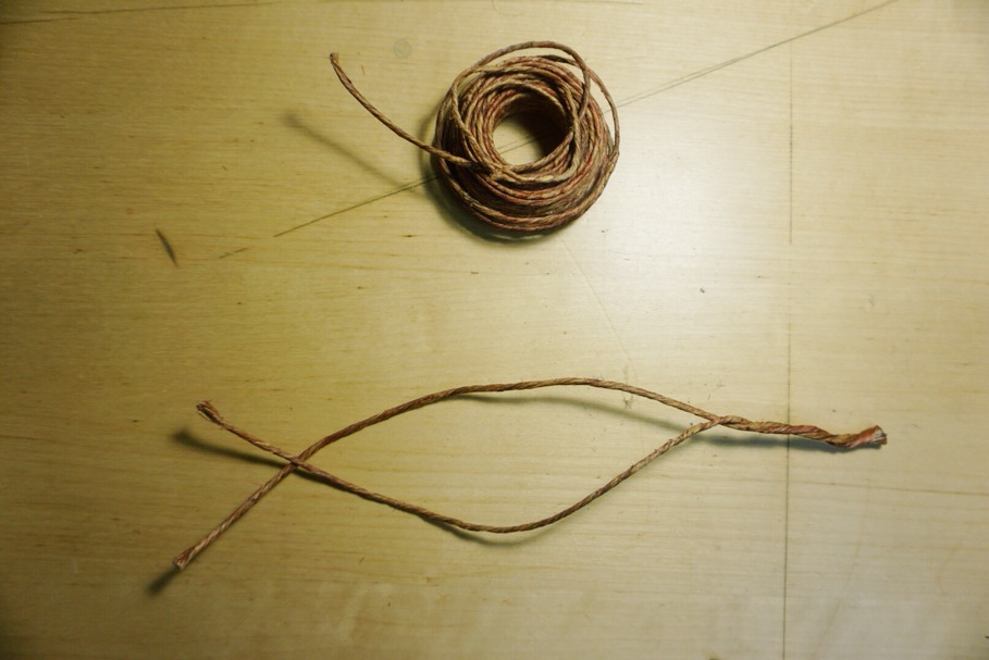 3. double coil wire and begin to twist