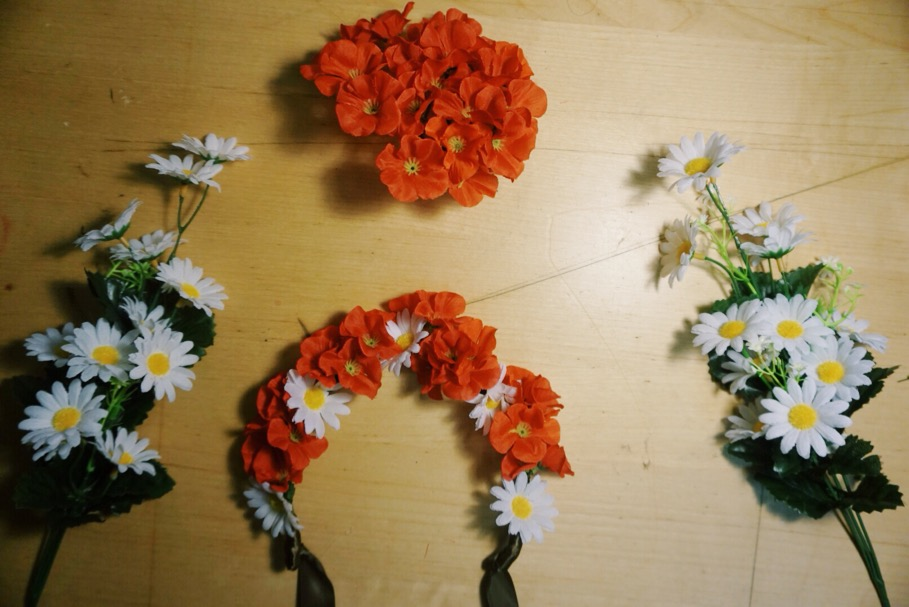 11. wrap this flower on headband