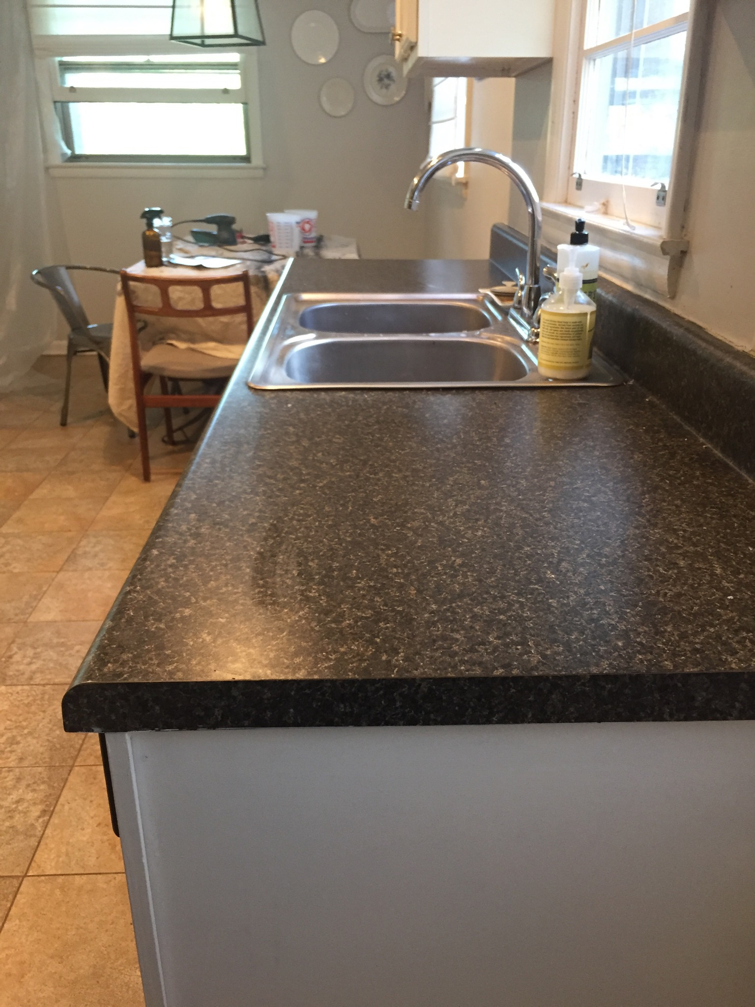 DIY Ardex Concrete Counters - Before & After