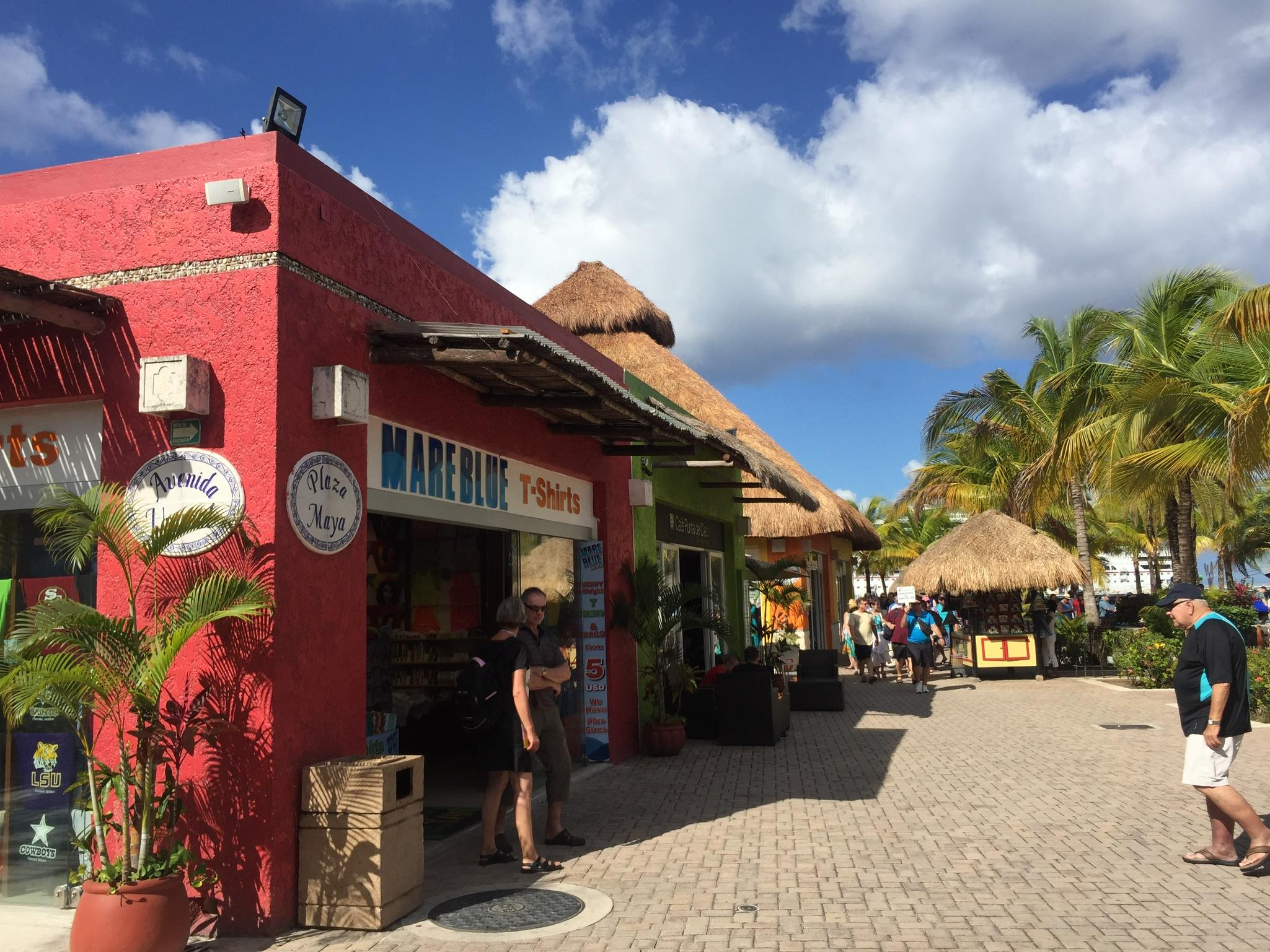Tourist central - Puerta Maya port at Cozumel