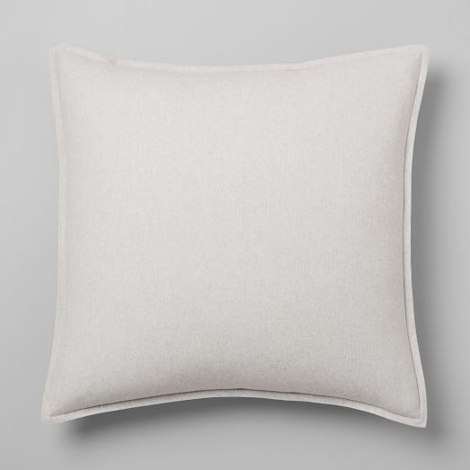 Flannel Solid Shams - Frost Gray - West Elm