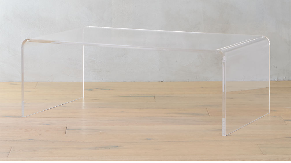 Peach Pine Home Product Review Clear Acrylic Thad Coffee Table By World Market