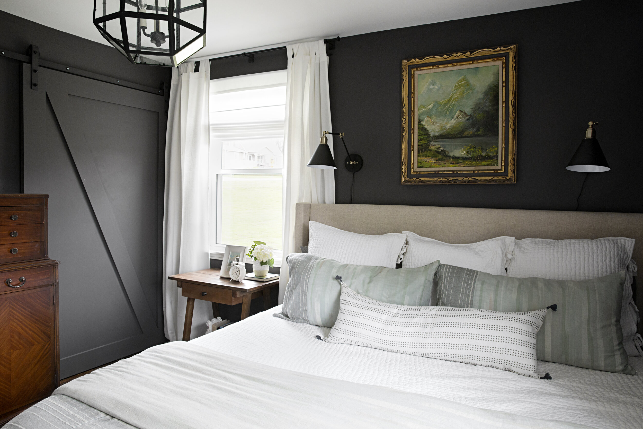 Moody Master Bedroom Renovation - Peach and Pine Home