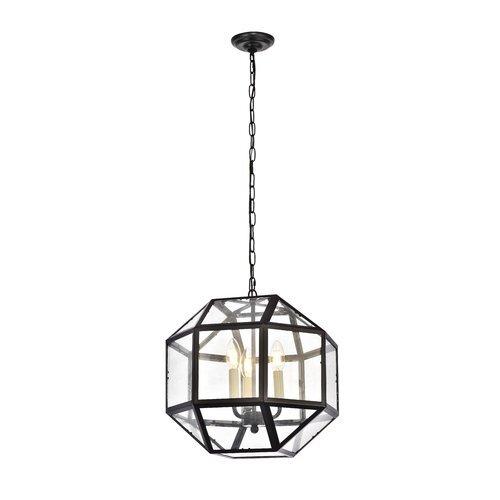 Burkeville 3-Light Geometric Chandelier - Wayfair