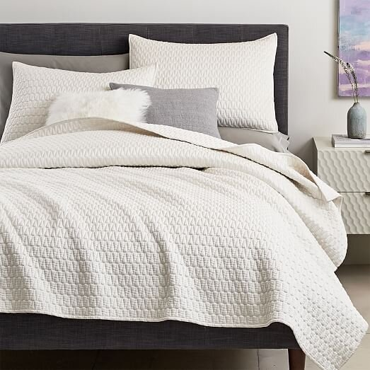 Gramercy Coverlet and Shams iIvory - West Elm