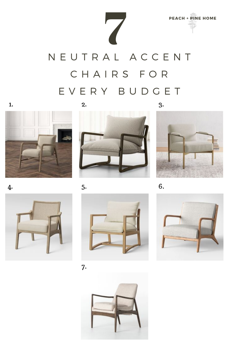7 Neutral Accent Chairs For Every Budget, best neutral accent chairs,