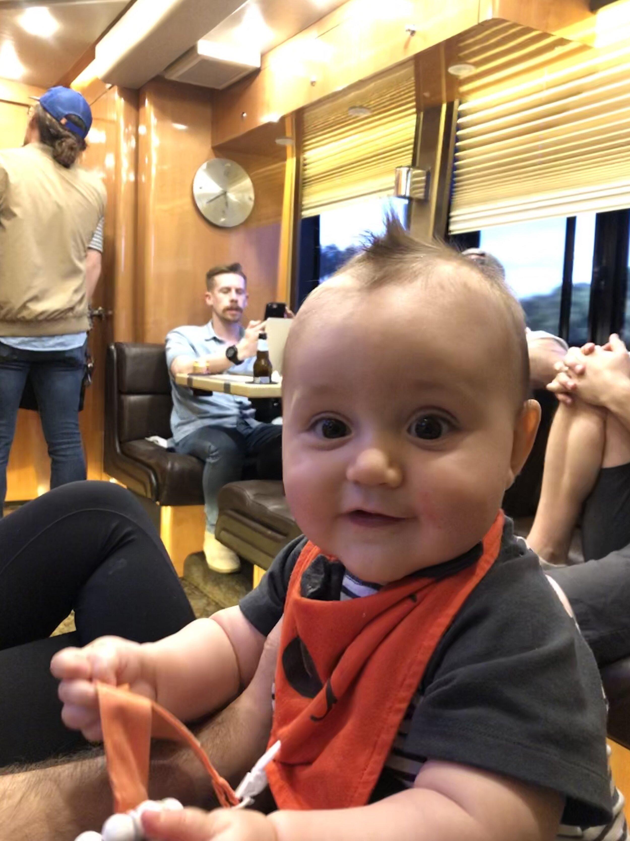 Judah On The Tour Bus