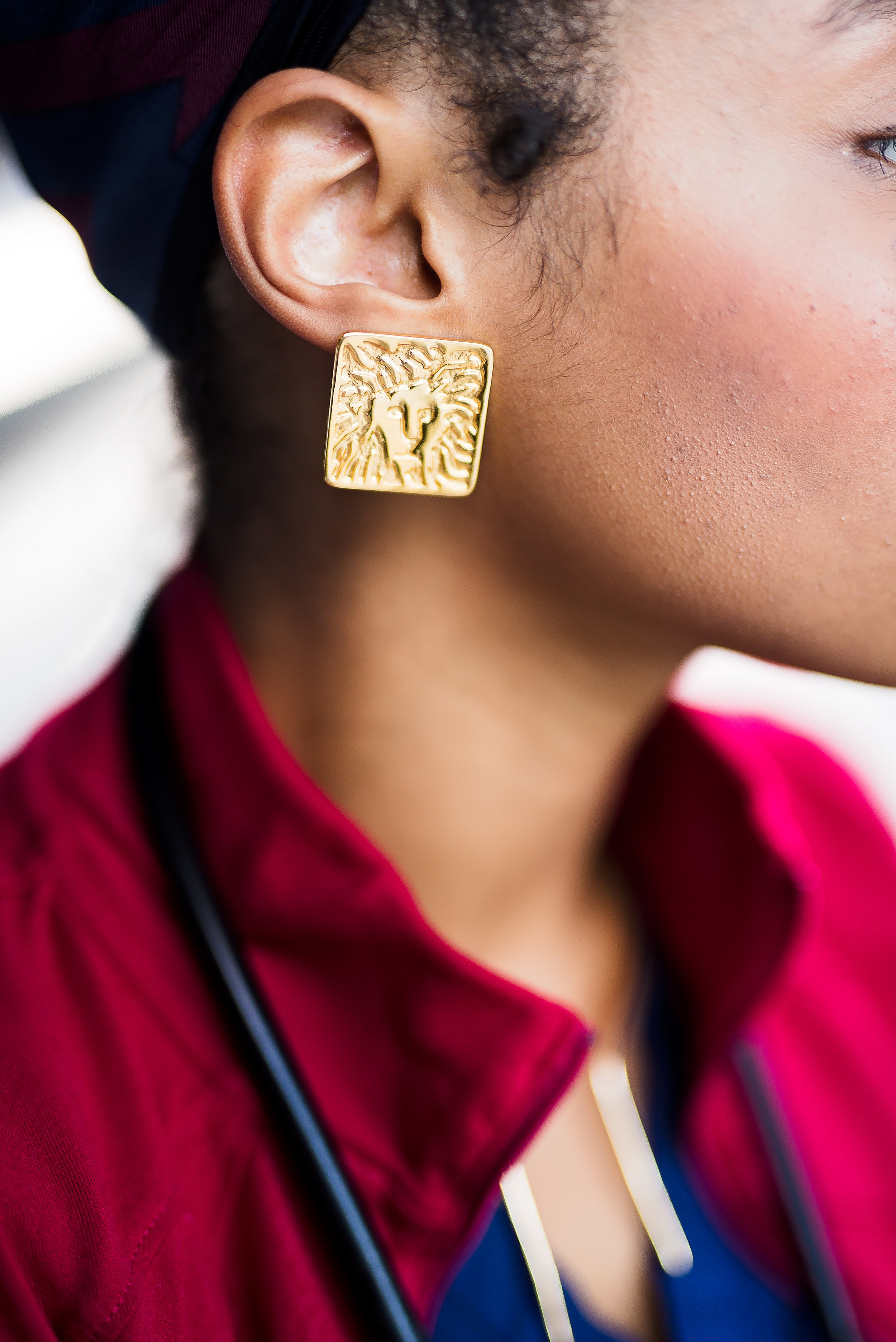 Statement earrings from Ann Klein that I got from my mother.