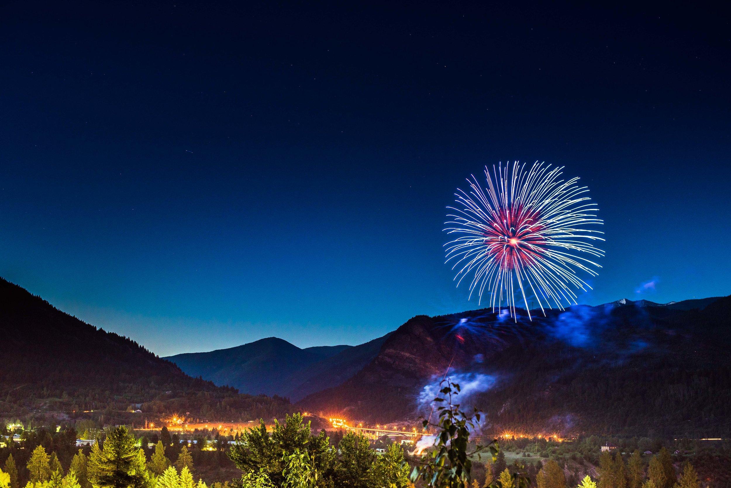 Fireworks at Castlegar Sunfest