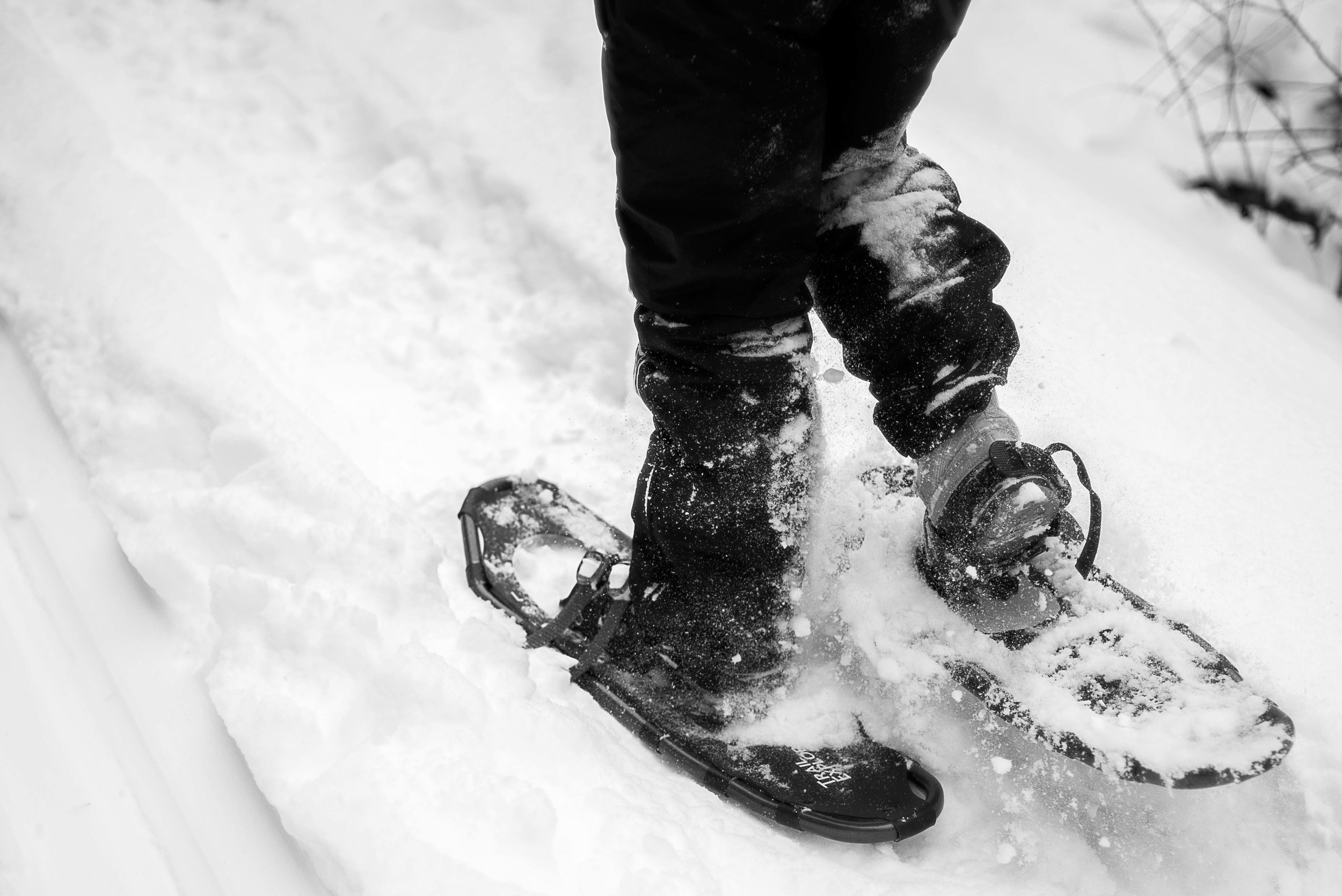 Snowshoeing on the Rail Trail