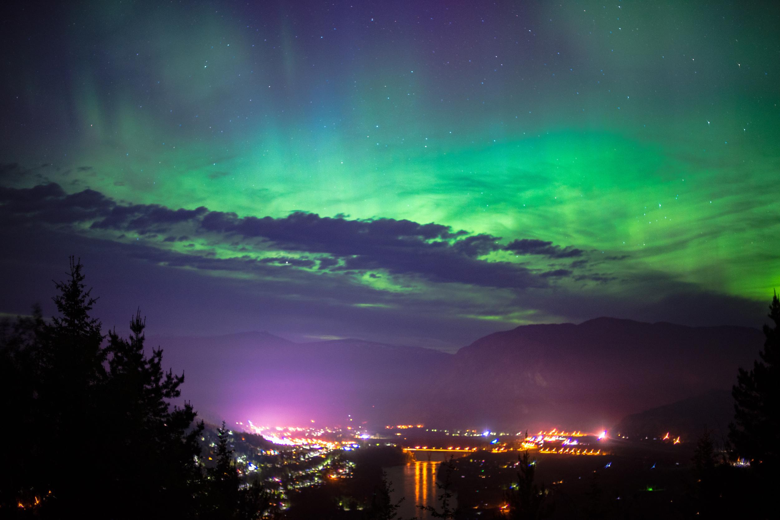 Northern Lights above Castlegar BC