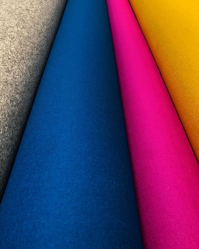 Amazing and gorgeous new rolls of wool felt being delivered today! #felt