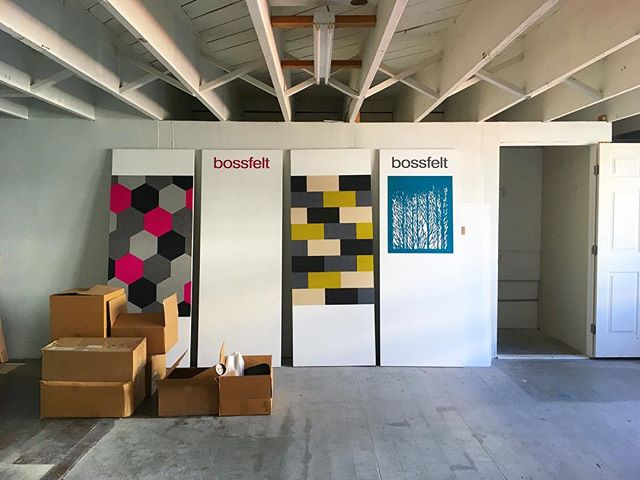 Working on our upstairs design/conference space next... Open studio coming at the end of September! Sign up for our newsletter to stay in the loop, link in profile #oaklandsmallbusiness #productdesign #industrialdesign #designfelt #woolfelt #bossfelt