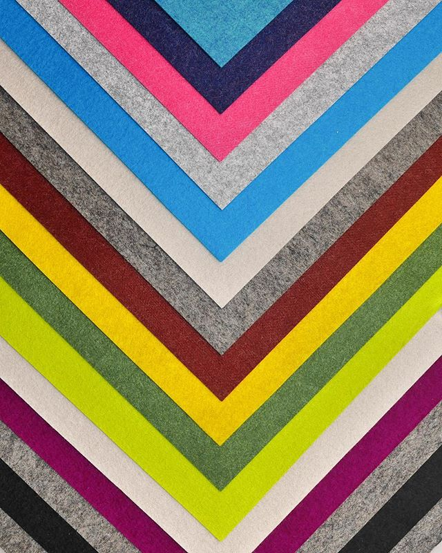 Designing color ways with our wool and synthetic felts. .. .. .. .. .. #bossfelt #feltsupplier #felt #feltdesign #productdesign #instafelt #bayarea #make #smallbusiness #chevron #rainbow #color #colorway #colorblock #colorpop