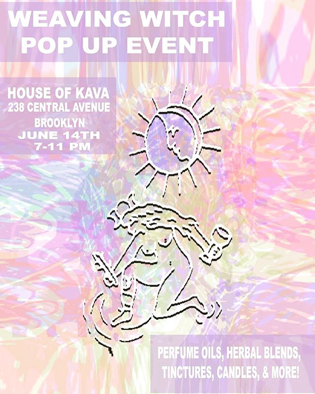 We are so excited to host house of kava favorite @emmawest.brook tomorrow, Friday June 14th, for her first of hopefully MANY pop-ups @weaving.witch !!!! Emma is a practicing witch and intuitive tarot reader, with seven years of active experience. And TOMORROW, from 7-11p, there will be so so so many cute goodies for purchase such as 🔮 crystal-infused organic oil blends 🔮 organic herbal blends for smoking & brewing 🔮 flower essence tinctures (made during different moon phases with healing crystals) 🔮 hand-made weaving 🔮 customized room & body sprays .& MORE! 💎 PLUS booking appointments will be available for private and party tarot/mediation/spell consultations & more :) Emma is one of the most powerful and compassionate women we know, so don't be afraid to ask her any lingering questions you may have about both her products and witchcraft/healing crystal work in general ! ❣️ ❣️ ❣️ ❣️ ❣️ #fridaynightvibes #fridaynight #healingwork #healingworkshop #spellcasting #spellwork #witch #witchcraft #womenempowerment #supportlocalartists #supportwomeninbusiness #supportlocalbusiness #bushwick #brooklyn #bushwickbar #brooklynbar #kavabar #kava #kratom #kratomsaveslives #springinnyc #popupshop #geminiseason #june14