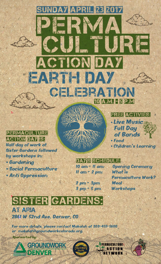 Permaculture action day @ sister Gardens, Denver  This  pay-what-you-can FARM STAND  is EXACTLY what we want to see more of in this world! Help Solutions Voyage lend a hand to Sister Gardens at the Action Day in Denver. Projects include painting, garden bed prep, tree planting, weeding, picking up trash, and celebrating the farm! Feels GOOD to GIVE back by getting yo hands dirty.