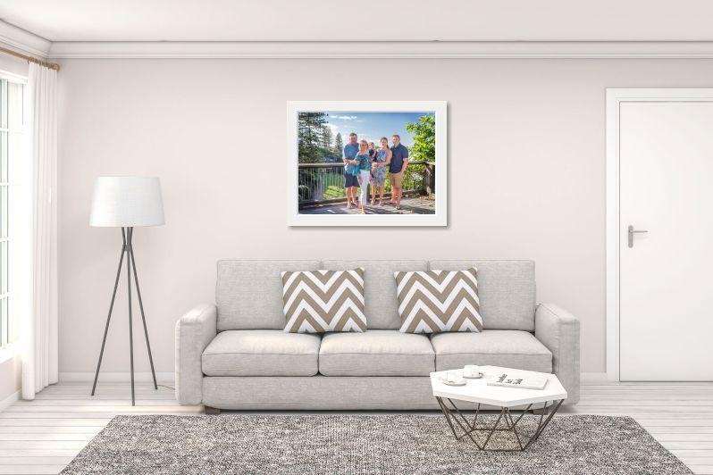 """40x30"""" print framed in white. Price $1295"""
