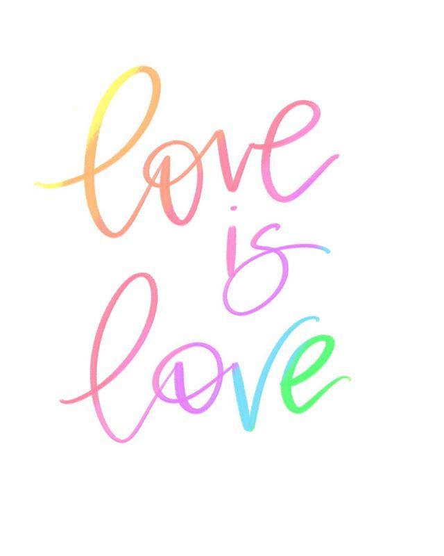 ❤️🧡💛💚💙💜 #loveislove #pride #meghanndwriting #ipadlettering