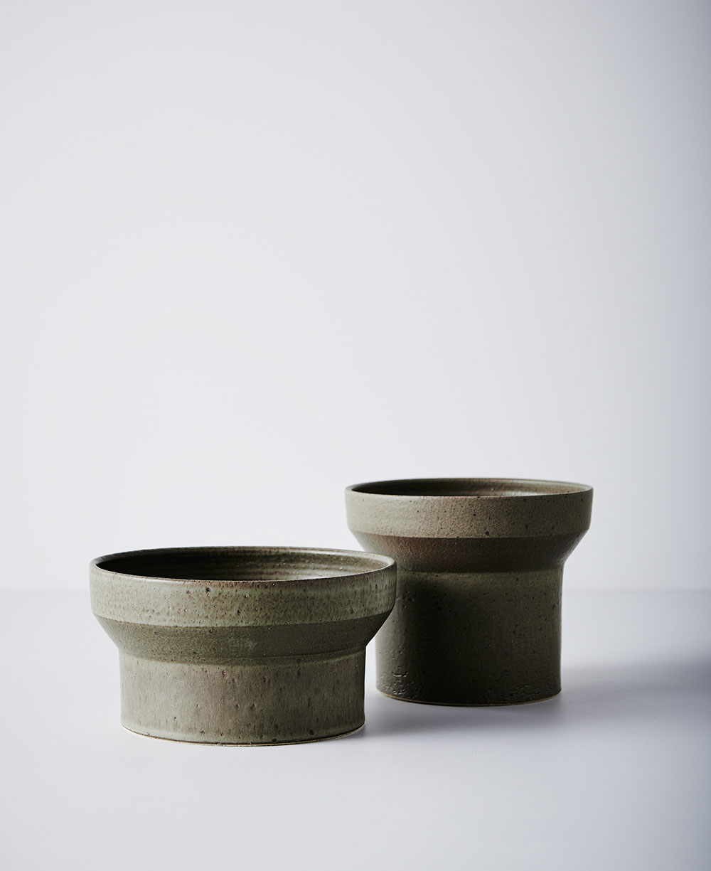 Short and Tall Format - Olive Green Glaze
