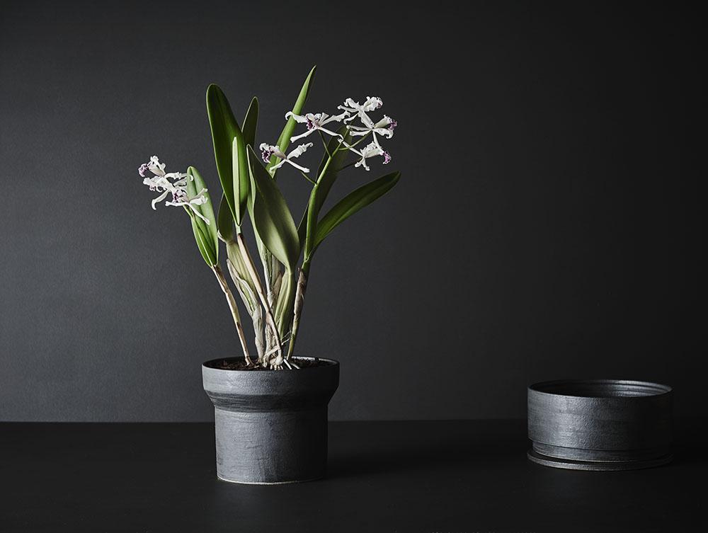 Tall - Charcoal Glaze