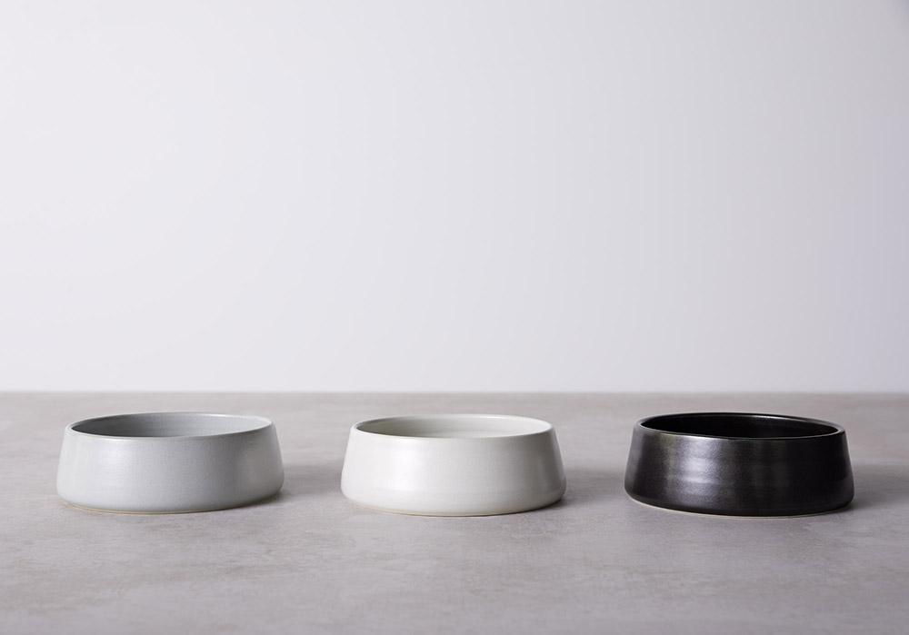 Medium - Mid Grey, Light Grey and Charcoal Glaze Finish