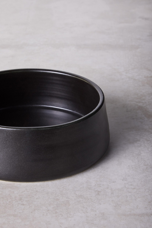 Medium - Charcoal Glaze Finish