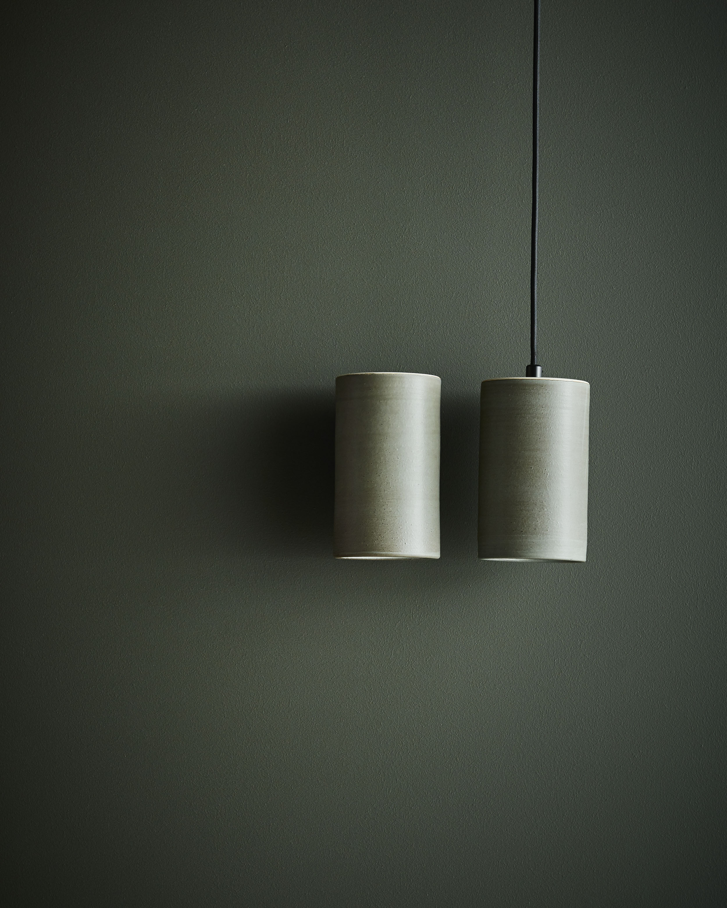 Earth Wall LIght and Pendant, regular, in Olive Green Glaze_2500px.jpg