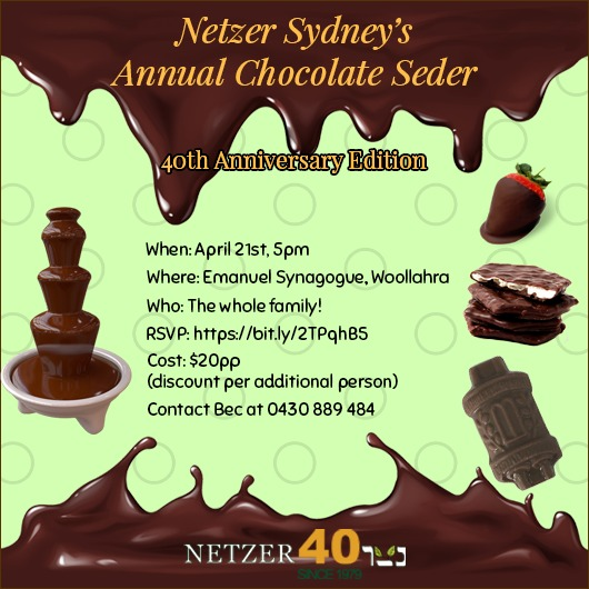 Chocolate Seder Flyer