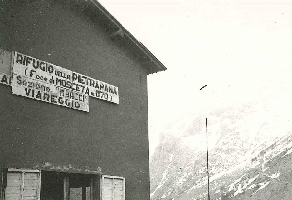 Rifugio località Foce di Mosceta, anni '60