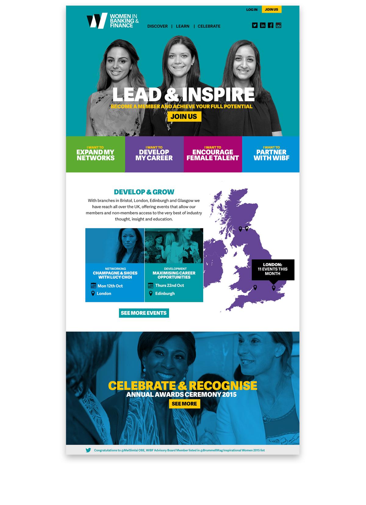 Homepage visual
