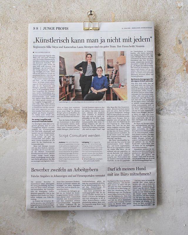 Schaut heute mal in die Berliner Morgenpost // @morgenpost - Vielen Dank für den Artikel🌞