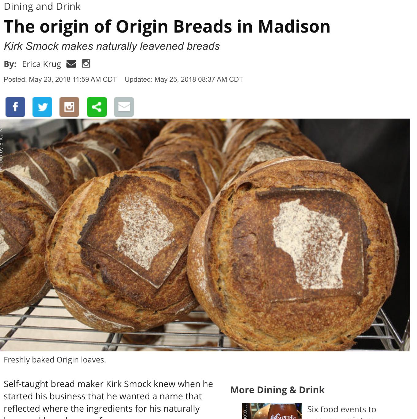 The Origin of Origin Breads in Madison