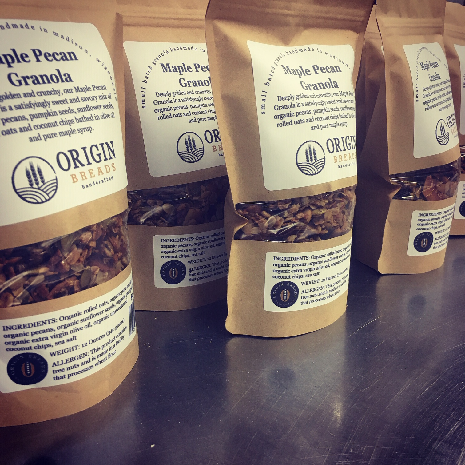 Bags of Maple Pecan Granola.JPG
