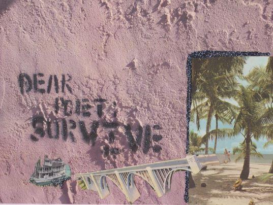 """""""dear poet survive"""" by Kelly Jones"""