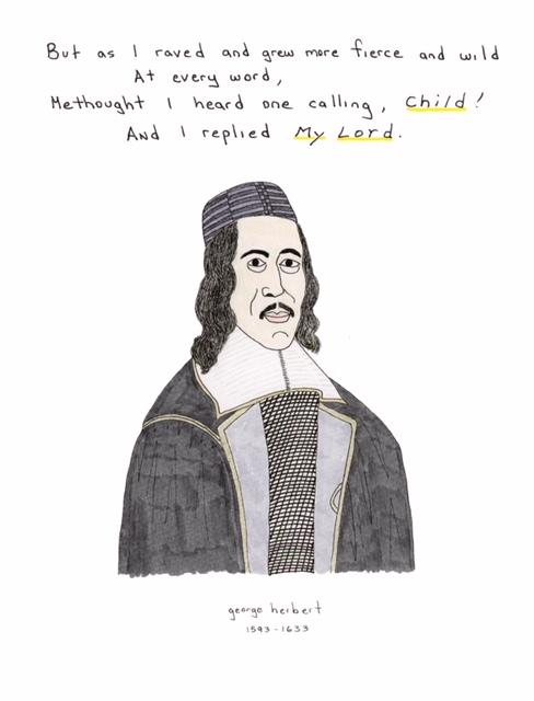 Portrait of poet George Herbert by William Horberg.