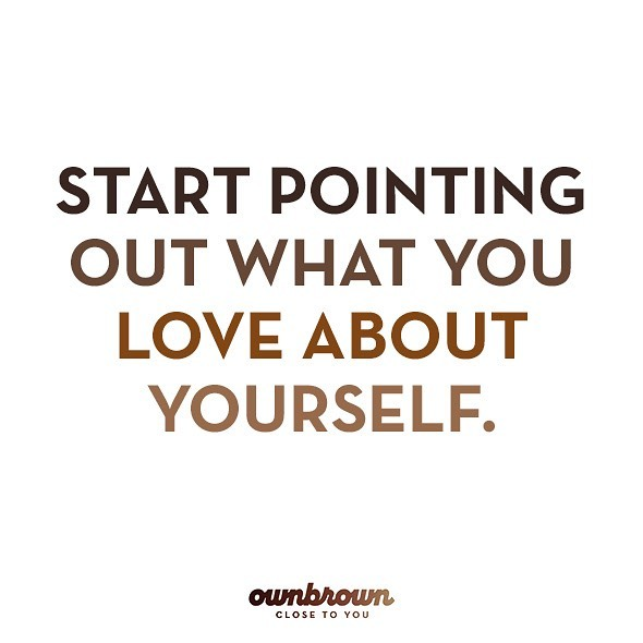 Start pointing out what you love about your #ownbrown #sunday . . . . . . . . .