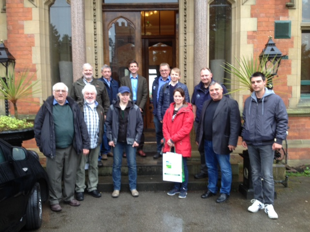 Pictured are members of the Inward Mission in front of Wroxhall Abbey Hotel