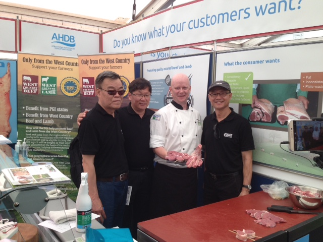 With AHDB Butcher Martin Eccles