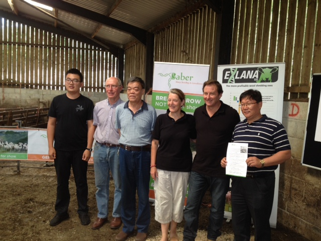 With Sheep South West Host Farmer David Disney & Ex-Lana breeder Peter Baber - both of SIG