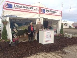 John Fleming & Gill Evans representing British Livestock at the Irish Ploughing Match