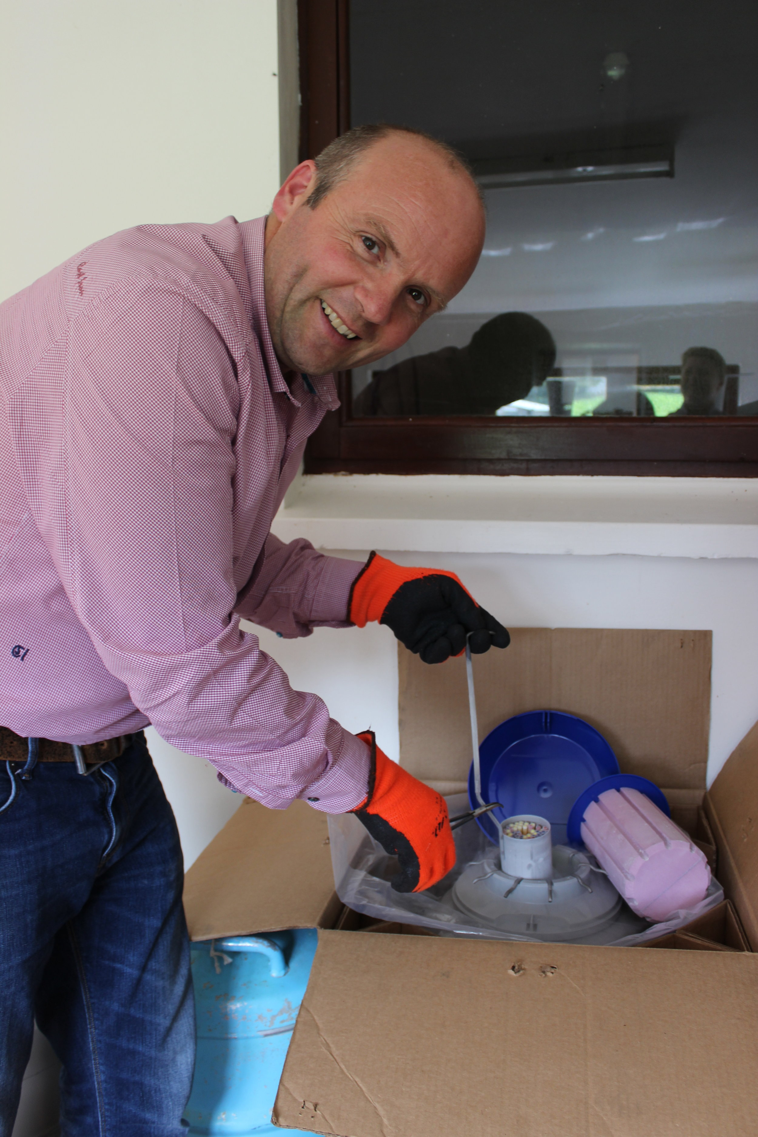 Nigel Overend prepares part of the export order going to China